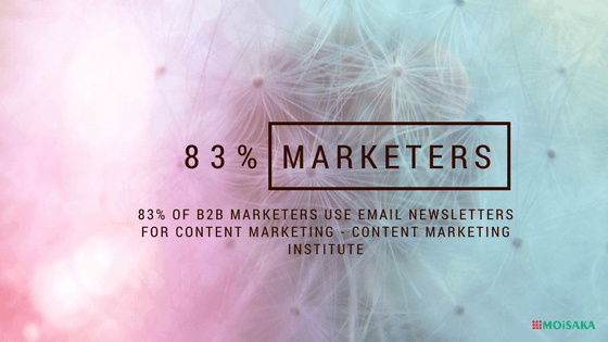 83% of B2B marketers use email newsletters for content marketing